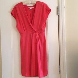 DVF silk cap sleeve dress